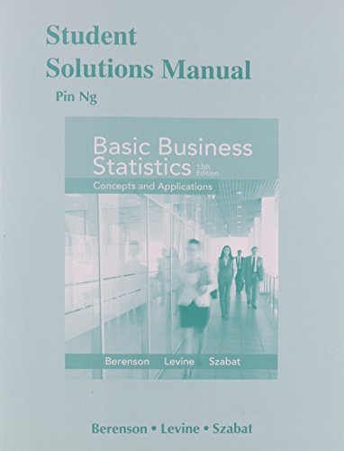9780321926708: Student Solutions Manual for Basic Business Statistics