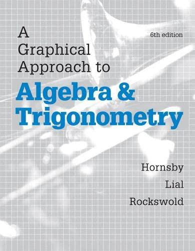 9780321927330: A Graphical Approach to Algebra and Trigonometry (6th Edition)
