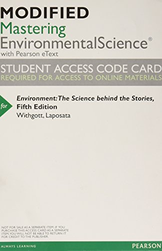 9780321927651: New MasteringEnvironmentalScience with Pearson Etext -- Valuepack Access Card -- for Environment: The Science Behind the Stories