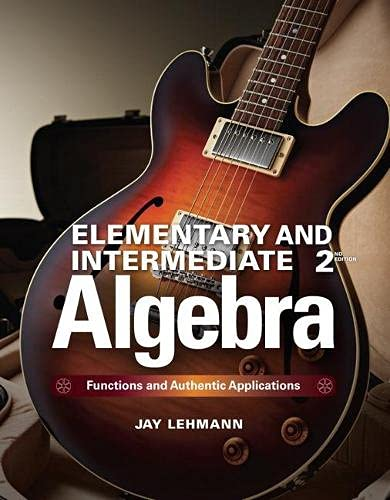 Elementary & Intermediate Algebra: Functions and Authentic Applications Plus MyMathLab -- ...