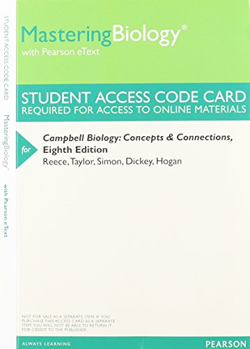 9780321928054: MasteringBiology with Pearson eText -- Valuepack Access Card -- for Campbell Biology: Concepts & Connections