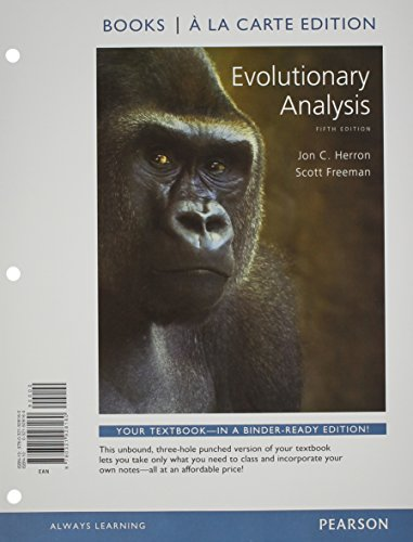 9780321928160: Evolutionary Analysis, Books a la Carte Edition (5th Edition)