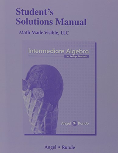 9780321929389: Student's Solutions Manual (standalone) for Intermediate Algebra for College Students