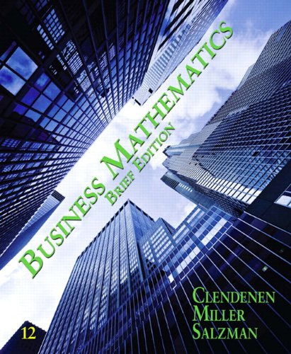 9780321929754: Business Mathematics Brief Plus MyMathLab -- Access Card Package/MyStatLab (12th Edition)