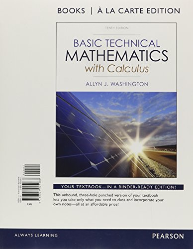 9780321930200: Basic Technical Mathematics with Calculus, Books a la Carte Plus myMathLab Access Card Packge (10th Edition)