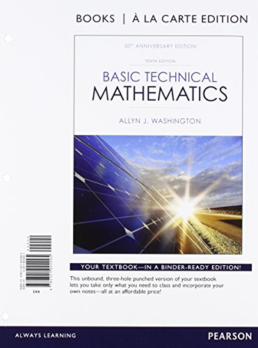 Basic Technical Mathematics, Books a la Carte: Washington, Allyn J