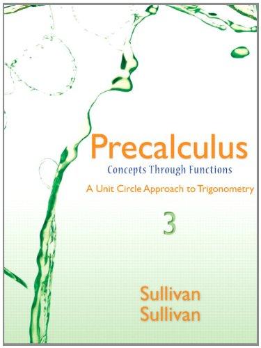 9780321930347: Precalculus: Concepts through Functions, A Unit Circle Approach to Trigonometry, Books a la Carte Edition (3rd Edition)