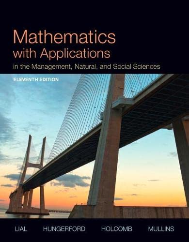 9780321931078: Mathematics with Applications In the Management, Natural and Social Sciences (11th Edition)