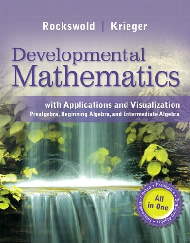 9780321931740: MyMathLab for Rockswold Developmental Math: Prealg, Beginning Alg, Intermediate Alg -- Access Card -- PLUS Worksheets (All in One Solutions)