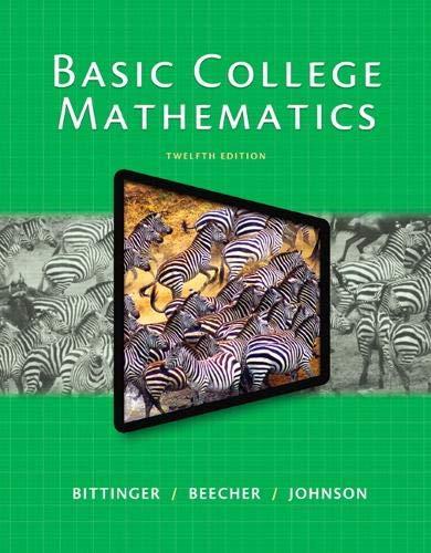 9780321931900: Basic College Mathematics (12th Edition)