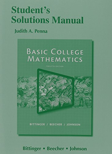 9780321931917: Student's Solutions Manual for Basic College Mathematics