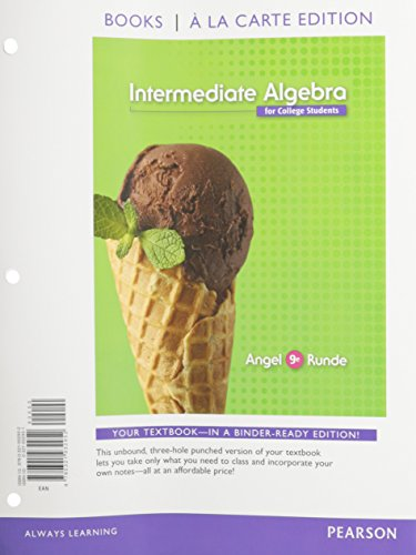 9780321932952: Intermediate Algebra for College Students, Books a la Carte Edition (9th Edition)