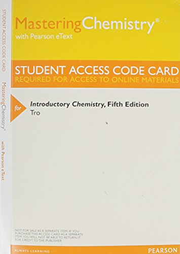 9780321933515: MasteringChemistry with Pearson eText -- ValuePack Access Card -- for Introductory Chemistry