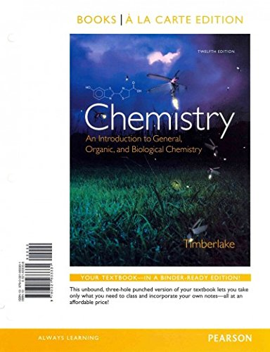 9780321933850: Chemistry: An Introduction to General, Organic, and Biological Chemistry, Books a la Carte Plus MasteringChemistry with eText -- Access Card Package (12th Edition)