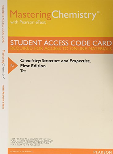 9780321934109: MasteringChemistry with Pearson eText -- ValuePack Access Card -- for Chemistry: Structure and Properties