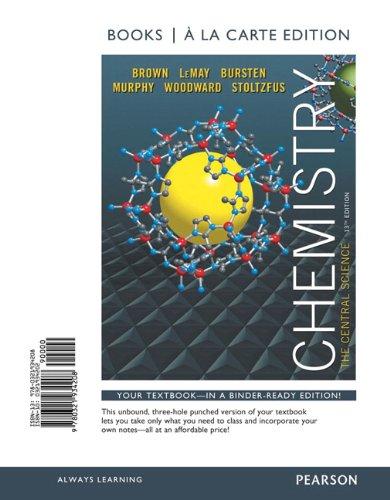 9780321934208: Chemistry: The Central Science, Books a la Carte Edition (13th Edition)