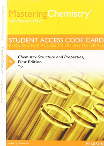 9780321934635: MasteringChemistry with Pearson eText -- Standalone Access Card -- for Chemistry: Structure and Properties