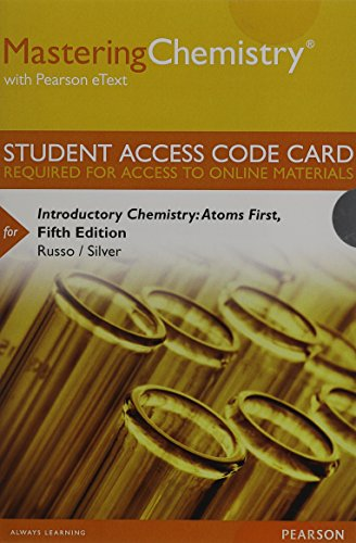 9780321934642: MasteringChemistry with Pearson eText -- Standalone Access Card -- for Introductory Chemistry: Atoms First (5th Edition)