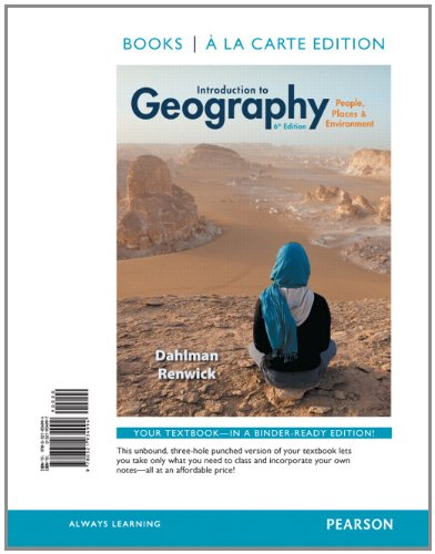 9780321934994: Introduction to Geography: People, Places & Environment, Books a la Carte Edition (6th Edition)