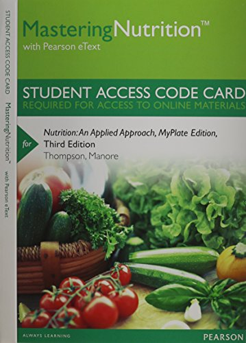 MasteringNutrition with MyDietAnalysis with Pearson eText -- Standalone Access Card -- for ...