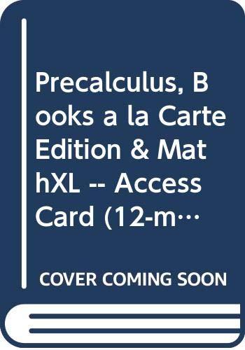 9780321936257: Precalculus, Books a la Carte Edition & MathXL -- Access Card (12-month access) Package