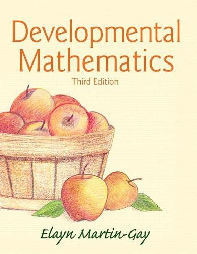 9780321936875: Developmental Mathematics (3rd Edition)