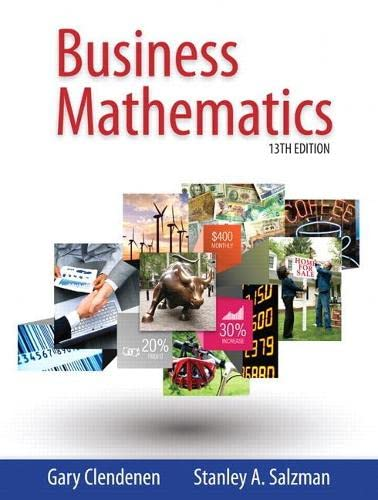 Business Mathematics plus MyMathLab with Pearson eText: Clendenen, Gary; Salzman,