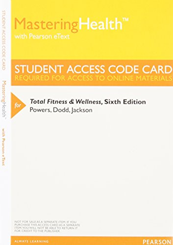 9780321937568: Mastering Health with Pearson eText - Value Pack Access Card - For Total Fitness & Wellness