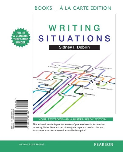 9780321937582: Writing Situations, Books a la Carte Edition