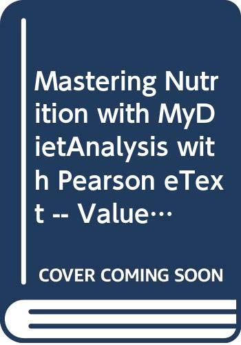 9780321939951: MasteringNutrition with MyDietAnalysis with Pearson eText -- ValuePack Access Card -- for Nutrition: An Applied Approach, MyPlate Edition