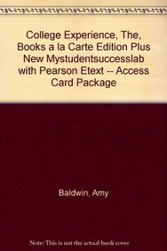 College Experience, The, Books a la Carte Edition Plus NEW MyStudentSuccessLab with Pearson eText -...