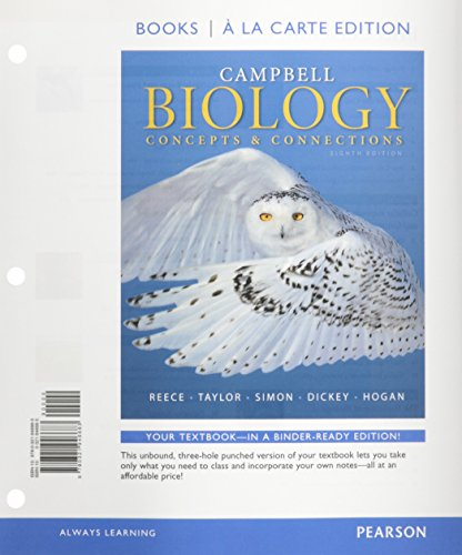 9780321941916: Campbell Biology: Concepts & Connections, Books a la Carte Plus Modified MasteringBiology with eText -- Access Card Package (8th Edition)