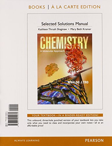 9780321942074: Student Solutions Manual for Chemistry: A Molecular Approach, Books a la Carte Edition