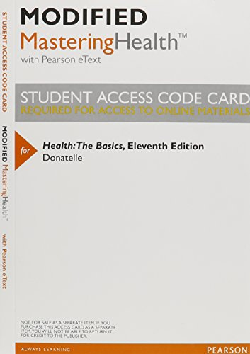 9780321942081: Modified MasteringHealth with Pearson eText -- ValuePack Access Card -- for Health: The Basics