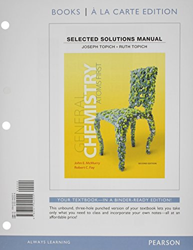 9780321942555: Student Solutions Manual for General Chemistry: Atoms First, Books a la Carte Edition