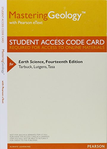 9780321943149: MasteringGeology with Pearson eText -- ValuePack Access Card -- for Earth Science