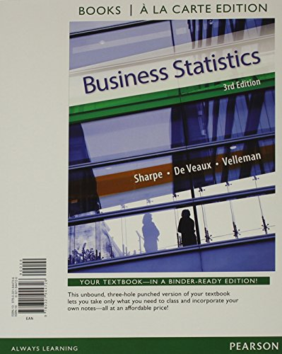 9780321944726: Business Statistics, Student Value Edition (3rd Edition)