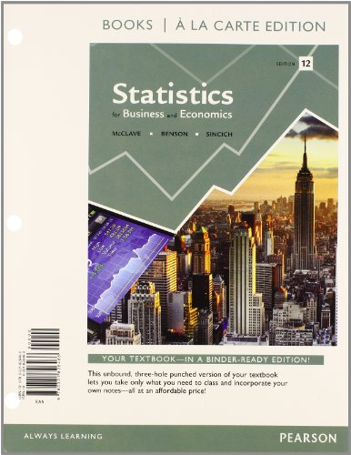 9780321945310: Statistics for Business and Economics, Student Value Edition