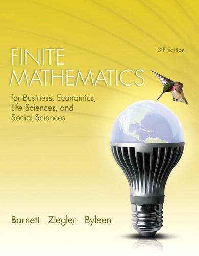 9780321945525: Finite Mathematics for Business, Economics, Life Sciences, and Social Sciences (13th Edition)