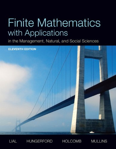 9780321946119: Finite Mathematics with Applications In the Management, Natural, and Social Sciences Plus NEW MyMathLab with Pearson eText -- Access Card Package (11th Edition)