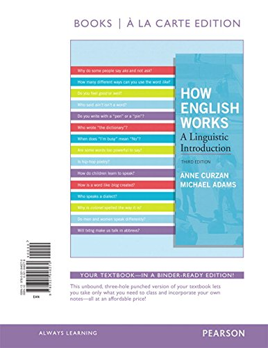 9780321946270: How English Works, Books a la Carte Edition (3rd Edition)