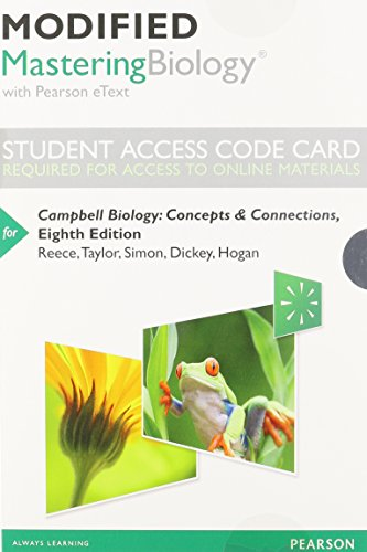 9780321946508: Modified MasteringBiology with Pearson eText -- Standalone Access Card -- for Campbell Biology: Concepts & Connections (8th Edition)