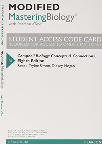 9780321946591: Modified MasteringBiology with Pearson eText -- ValuePack Access Card -- for Campbell Biology: Concepts & Connections