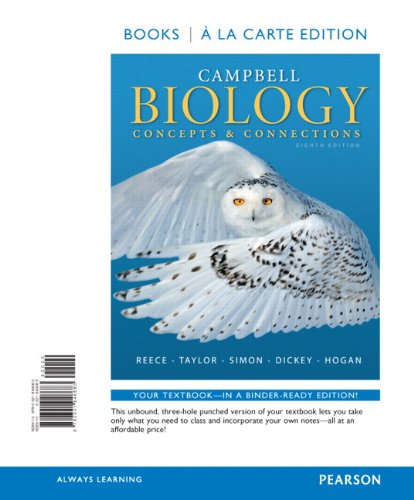 9780321946683: Campbell Biology: Concepts & Connections, Books a la Carte Edition (8th Edition)