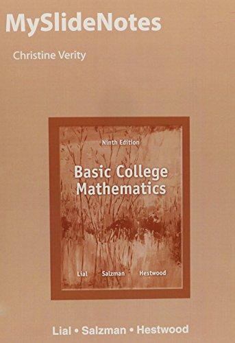 9780321946782: MySlideNotes for Basic College Mathematics