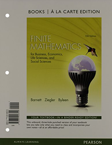Finite Mathematics for Business, Economics, Life Sciences: Barnett, Raymond A.^Ziegler,