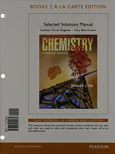 9780321948144: Chemistry: A Molecular Approach, Books a la Carte Plus MasteringChemistry with eText -- Access Card Package & Student Solutions Manual (3rd Edition)
