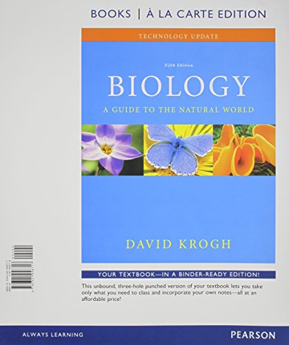 9780321948717: Biology: A Guide to the Natural World Technology Update, Books a la Carte Edition (5th Edition)