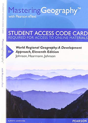 9780321949622: MasteringGeography with Pearson eText -- Standalone Access Card -- for World Regional Geography: A Development Approach (11th Edition)