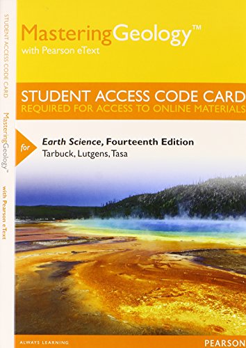 9780321949707: Mastering Geology with Pearson eText -- Standalone Access Card -- for Earth Science (14th Edition)